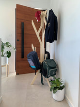 Load image into Gallery viewer, IsoKing Coat Stand, coat stand, coat rack, hat rack, hat stand, hallway stand, scarf stand, scarf rack, bag holder, pack pack rack