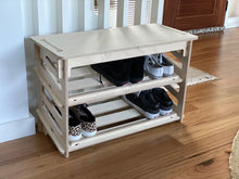 Load image into Gallery viewer, IsoKing Shoe Rack with Seat