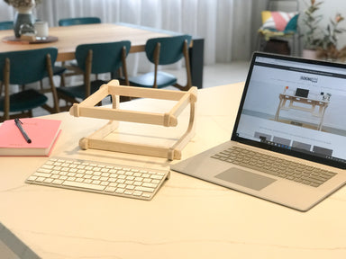 Isoking, Stagekings, Laptop Stand, Stand, Lap Top Stand, Laptop holder, Device Stand, Device holder, Computer stand, screen holder australian made, birch, ply, plywood