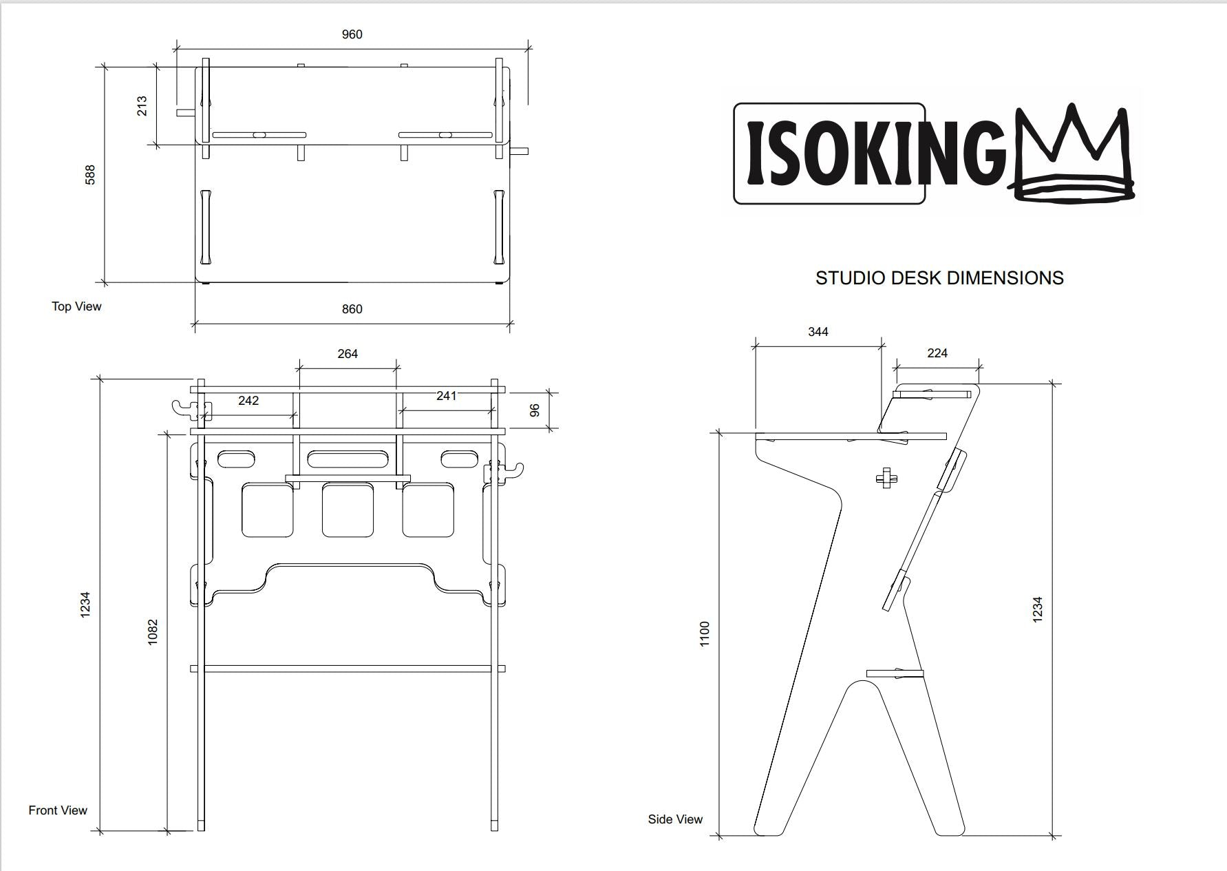 isoking, stagekings, studio desk,  Desk, work table, work desk, work from home, work station, hooks, cable storage, cable management, bag hook, device hook, device holder, ipad holder, iphone holder, solidwood, solid birch, ply, plywood, birch, table, writing des, stand up desk, standing desk, standing workstation,