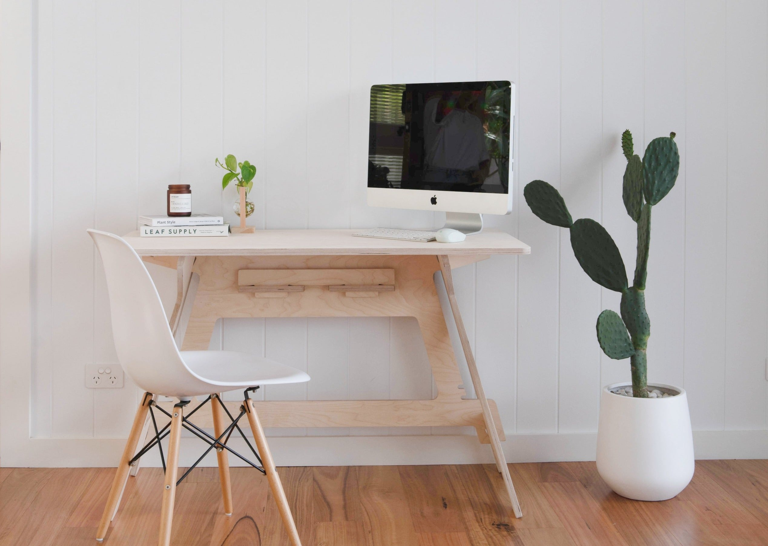 IsoKing Work From Home Desk - Raw Birch