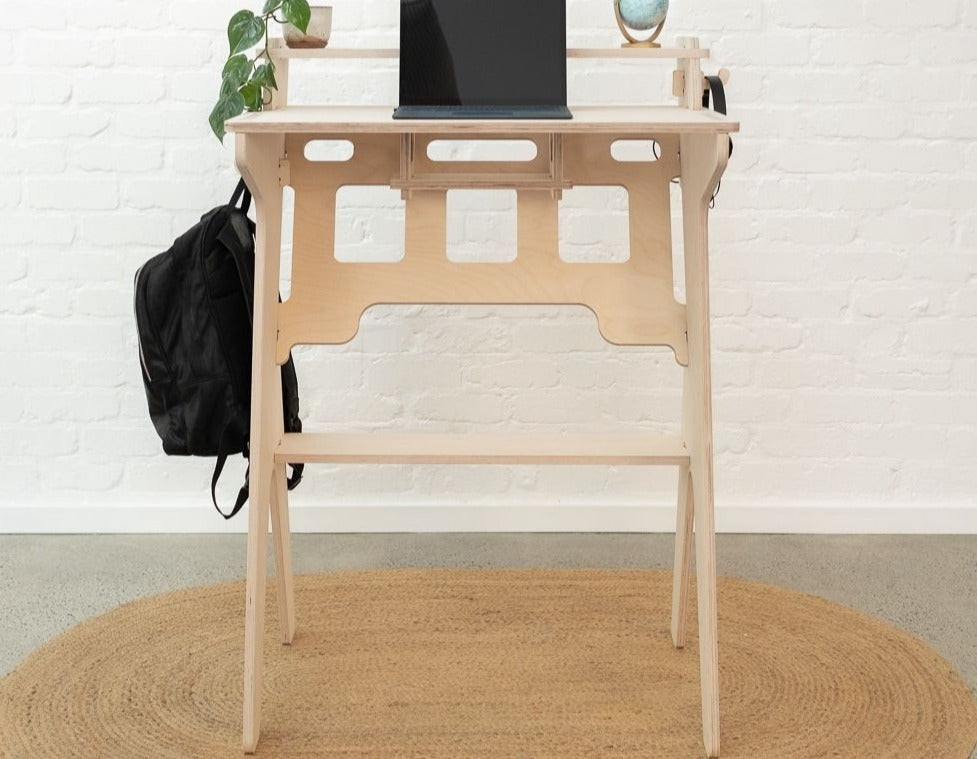 IsoKing Studio Stand Up Desk - Raw Birch