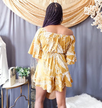 Load image into Gallery viewer, Leaf Pattern Romper (Dark Mustard)