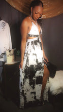 Load image into Gallery viewer, Side cut out maxi dress (black and white)