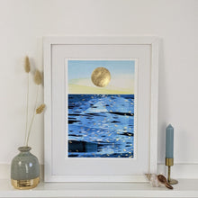 Load image into Gallery viewer, 'Golden Hour 3' Beach Scene Fine Art Print