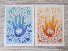 Load image into Gallery viewer, 'Hand Prints Bundle' Illustrative Hand Silhouette Limited Edition Fine Art Prints