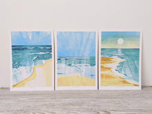 Load image into Gallery viewer, Bundle of 3 beach scene limited edition fine art prints.