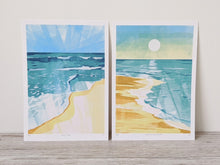 Load image into Gallery viewer, Bundle of 2 beach scene limited edition fine art prints.