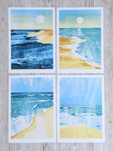 Load image into Gallery viewer, Bundle of 4 beach scene limited edition fine art prints.
