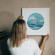 Load image into Gallery viewer, 'Make Waves' Ocean Wave Metallic Limited Edition Fine Art Print