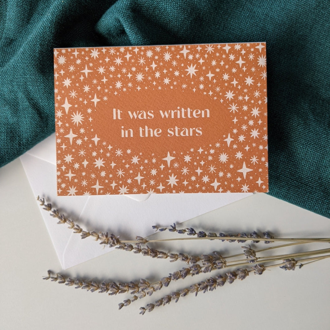 'It Was Written In The Stars' Luxury Celestial Greeting Card