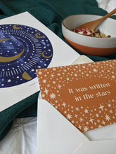 Load image into Gallery viewer, 'It Was Written In The Stars' Luxury Celestial Greeting Card