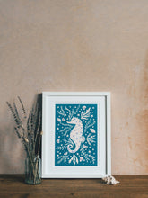 Load image into Gallery viewer, 'Sami Seahorse' Friendly Sea Creature Fine Art Print For Children