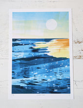 Load image into Gallery viewer, 'Golden Hour' Beach Scene Limited Edition Fine Art Print