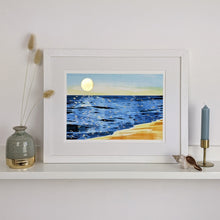 Load image into Gallery viewer, 'Golden Hour 2' Beach Scene Fine Art Print