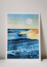 Load image into Gallery viewer, 'Golden Hour' sea shore at golden hour limited edition fine art print