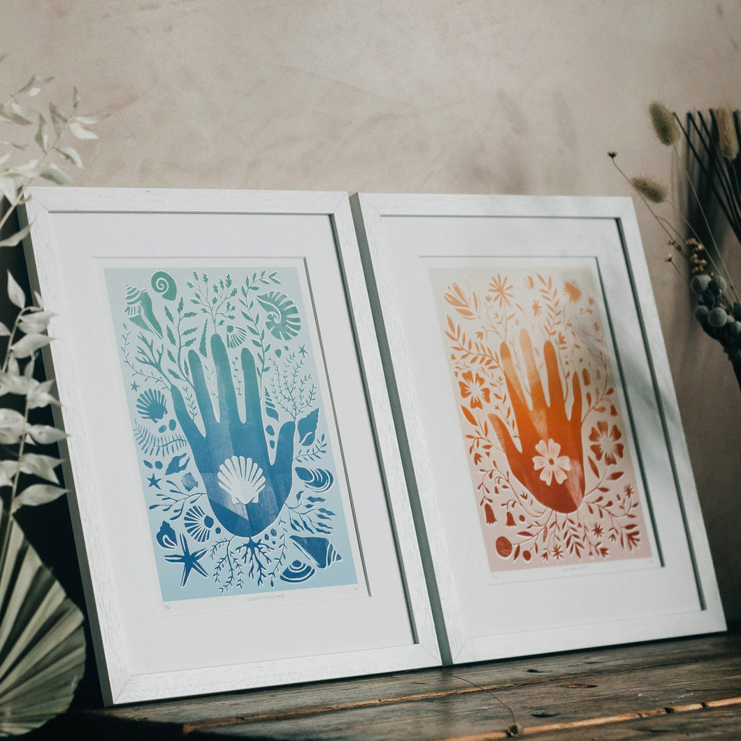 'Hand Prints Bundle' Illustrative Hand Silhouette Limited Edition Fine Art Prints