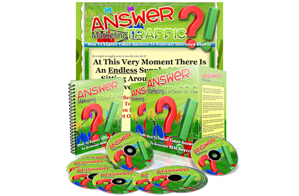 Answer Marketing Traffic Minisite PSD Template