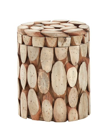 Tundra Lidded Wood Pot