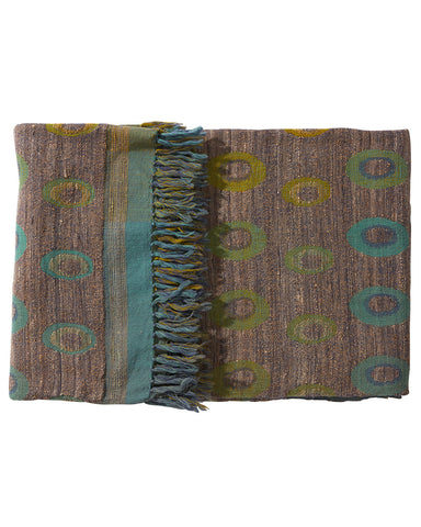 Carlotta Wool/Silk Patterned Throw