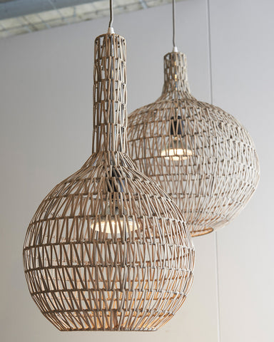 Woogie Rattan Pendant Light