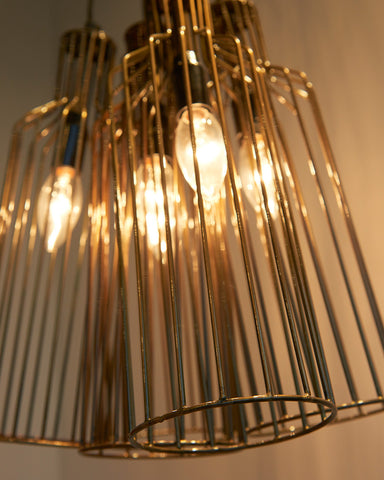 Ablo Industrial Metal Cage Chandelier-lifestyle-close up