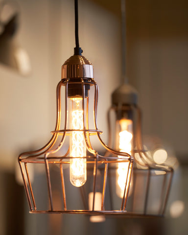 Metal'o Industrial Copper Cage Pendant Light