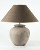 Albert Natural Terracotta Table Lamp-small with shade