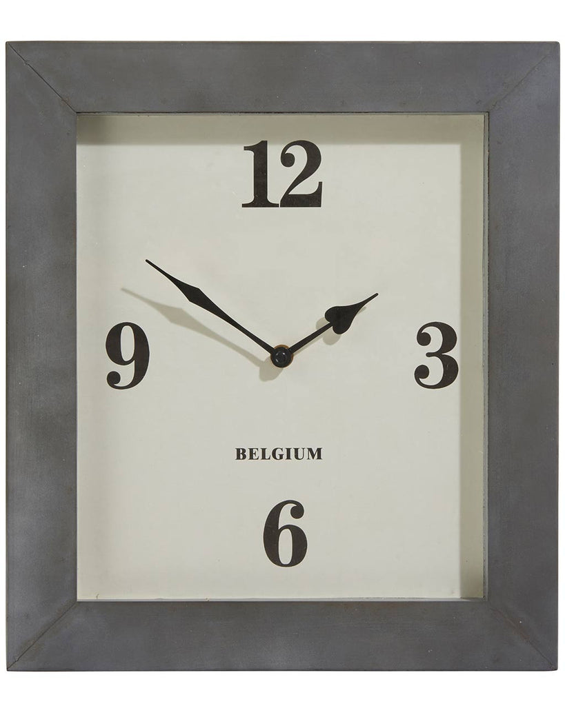 paddington contemporary rectangular wall clock hcm - zoom