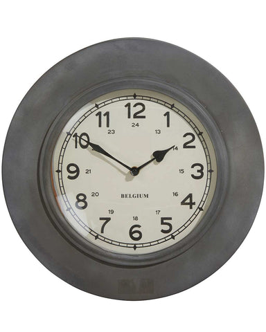 Stratford Industrial Style Metal Wall Clock