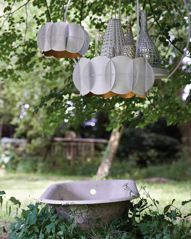 Origami Retro Galvanised Metal Pendant Light