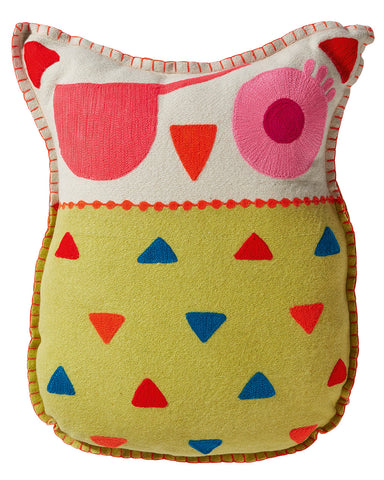 Ubo Yellow Felt Pirate Owl Cushion