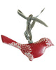 Red, Red Decorative Metal Hanging Bird