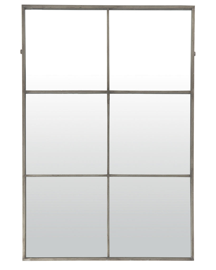 Large Window Frame Mirror - Antique Silver Frame | NetDeco