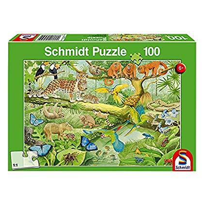 Animals in the Jungle 100 Pieces