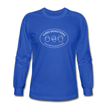 Load image into Gallery viewer, Basketeers Logo Long Sleeve T-Shirt - royal blue