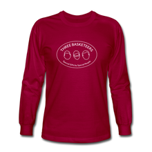 Load image into Gallery viewer, Basketeers Logo Long Sleeve T-Shirt - dark red