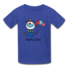 Load image into Gallery viewer, Birthday Clown Tagless T-Shirt for Kids - royal blue