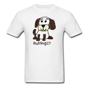Happy Puppy Adult Tagless T-Shirt - white