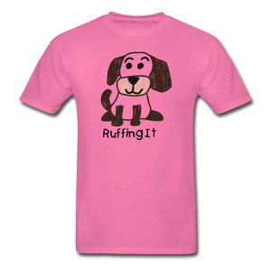 Happy Puppy Adult Tagless T-Shirt - hot pink