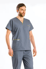 Load image into Gallery viewer, V-neck Scrub Tunic Gray, Set with pants