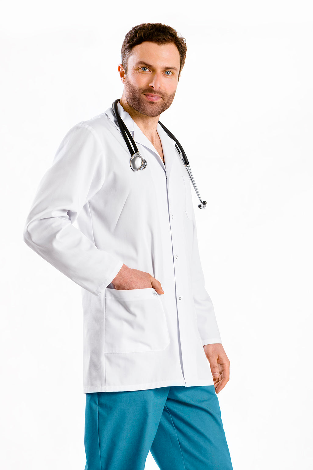Unisex lab coat 3/4 long