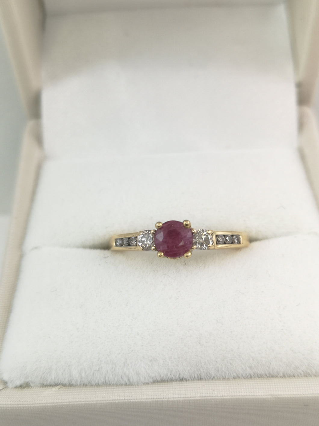 Ruby Ring on Yellow Gold