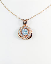 Load image into Gallery viewer, 925 Silver Rose Gold, Rose pendent +Chain
