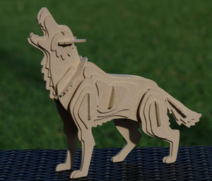 Dire Wolf 3D Animal Wooden Toy Puzzle