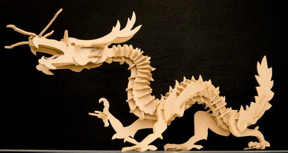 Tien Lung Dragon 3D Fantasy Wooden Toy Puzzle