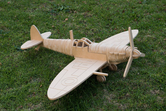 Spitfire Fighter Aircraft 3D Wooden Toy Puzzle