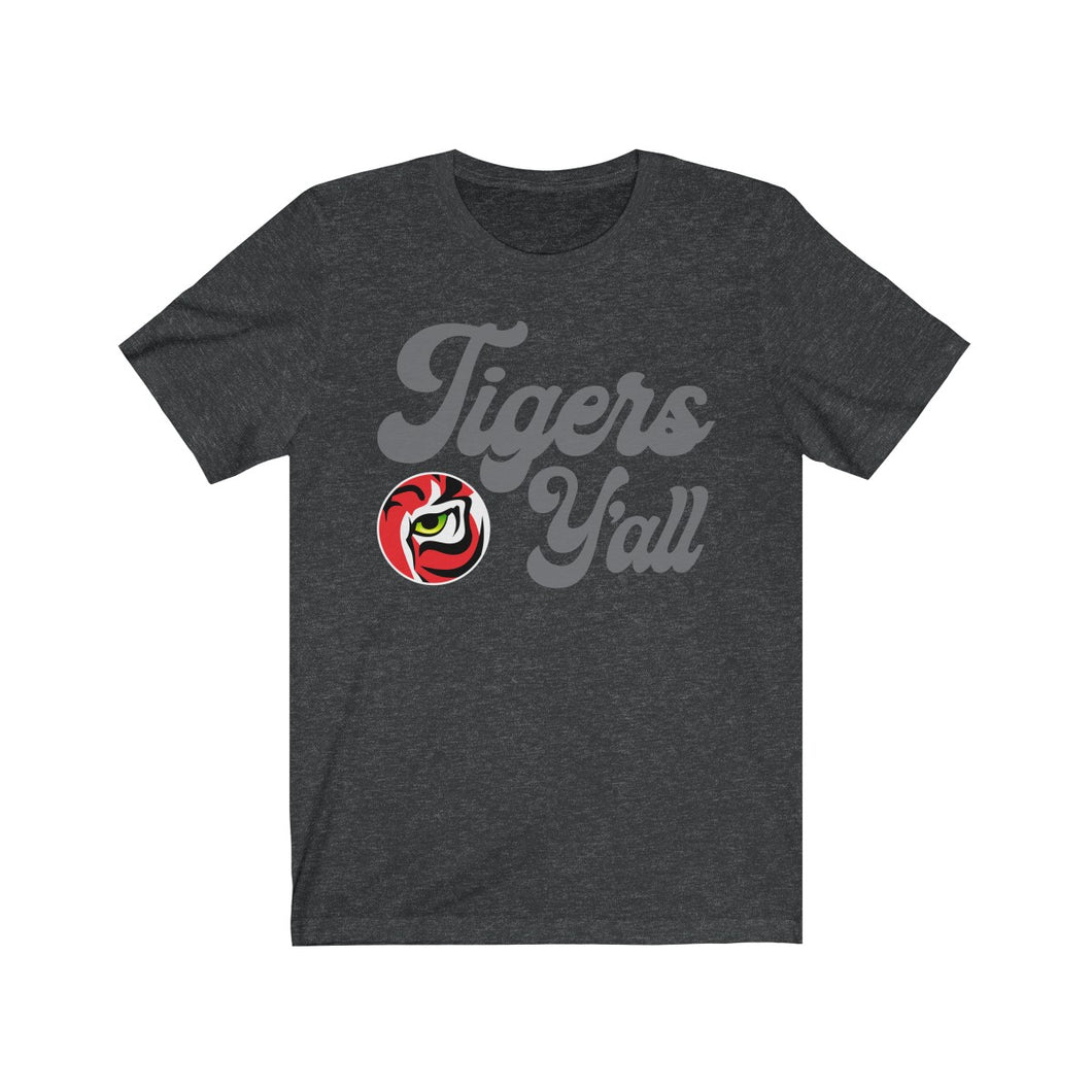 Tigers Yall -  Jersey Short Sleeve Tee - Tiger Gear