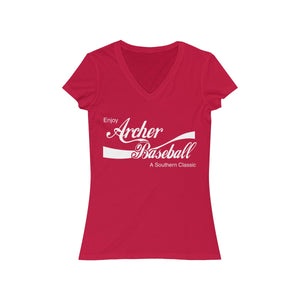Archer Classic Baseball - Lady's Jersey Short Sleeve V-Neck Tee