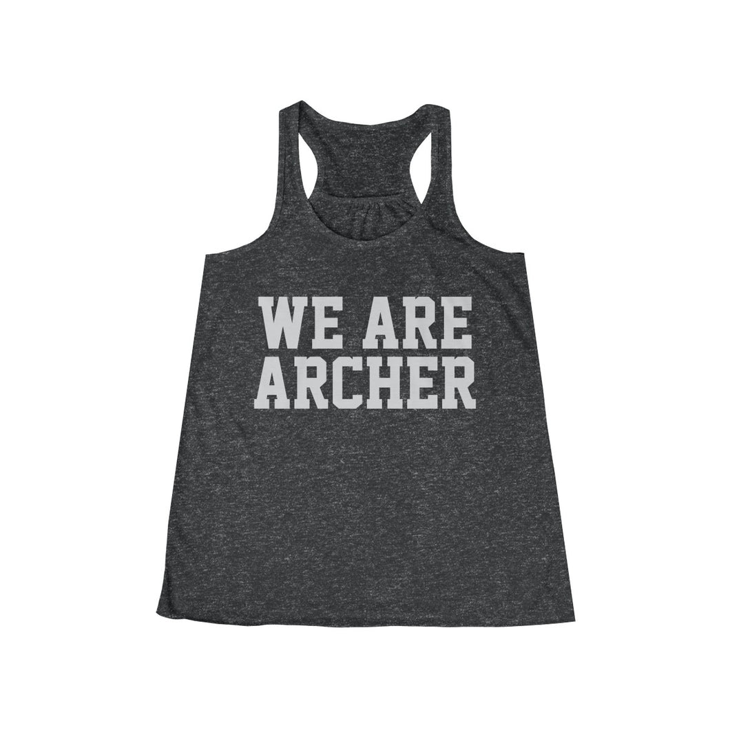 We Are Archer Ladies Flowey Back Tank